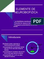ELEMENTE DE NEUROBIOFIZICA
