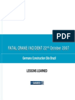 Fatal Crane Incident - October 2007