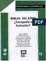 RIBLA 12-Conquista o inclusión