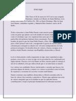 Ensayo Duarte en La Fe, La Etica y en La Politica