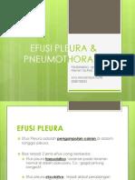 Kasus I Efusi Pleura & Pneumothoraks
