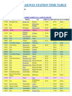 Ahmedabad Railway Station Time Table