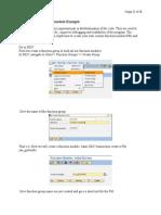 ABAP Create FunctionExample(Scribd)