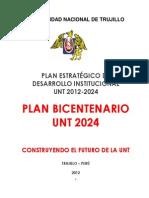 Plan Bicentenario Unt 2012 - 2024