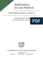 Mathematics Matter and Method-Putnam Hilary