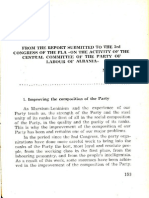 The Party of Labour of Albania on the Building and the Life of the Party (second part of file)