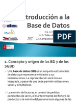 1. Introducción a la Base de Datos