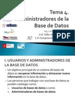4. Administradores de Base de Datos