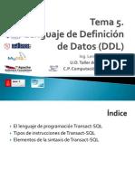 5. Lenguaje de Definición de Datos DDL