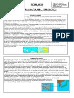 FICHA Nº12, DESASTRES NATURALES, TERREMOTOS
