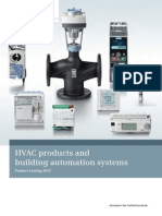 HVAC Products and Building Automation and Control Systems 2012