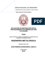Aplicacion de Microscopia en Flotacion de Mnerales
