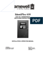 Gamewell Identiflex 610 Alarm System Manual