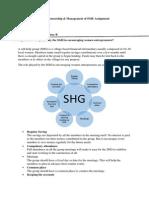 Entrepreneurship & Management of SME Assignment