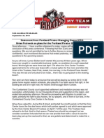 Statement from Portland Pirates Managing Owner/CEO  Brian Petrovek on plans for the Portland Pirates 2013-14 Season