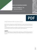d.s. 132 Reglamento de Seguridad Minera