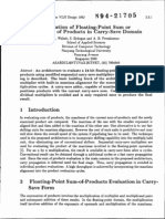 Evaluation of Floating-point Sum or Difference of Products in Carry-save Domain (January 1, 1992)