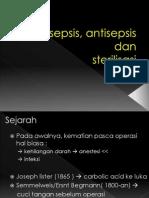 Asepsis, Antisepsis