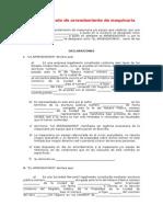 Contrato de Arrendamiento de Maquinaria