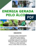 ENERGIA GERADA PELO ÁLCOOL
