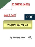 Tarifas Van Tir