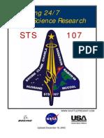 "NASA Space Shuttle ""Columbia"" STS-107 Press Kit"