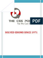 Solved Idioms Since 1971