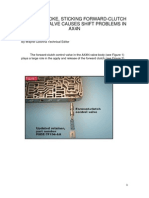 AX4N, problemas 3-4, neutralización por válvula de control del embrague de avance