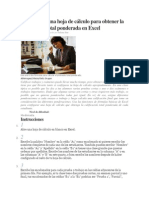 Cómo crear una hoja de cálculo para obtener la calificación total ponderada en Excel