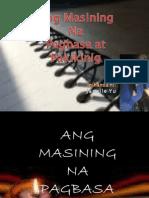 Filipino 1 Ang Masining Na Pagbasa at Pakikinig