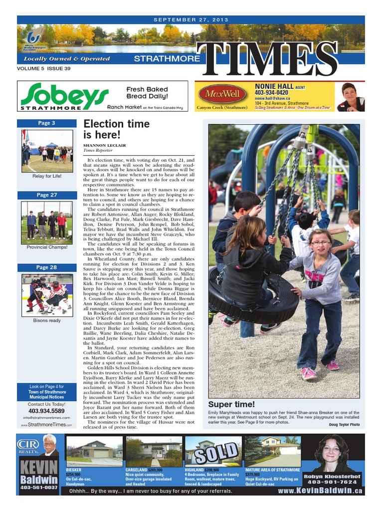 September 27, 2013 Strathmore Times | Day Care | Cerebral Palsy
