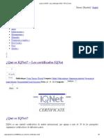 ¿Qué es IQNet