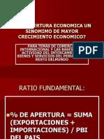Ratio Apertura Economica