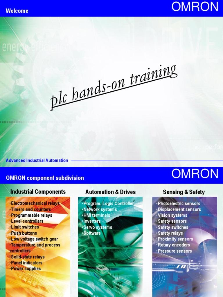 OMRON Plc Training Programmable Logic Controller InputOutput - Electromechanical relay logic