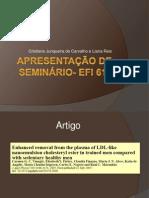Apresentacao de Seminario- EFI 613