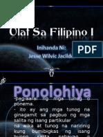 Filipino 1 Ponolohiya