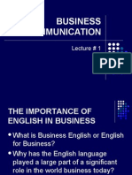 Lesson 1 Business Communication