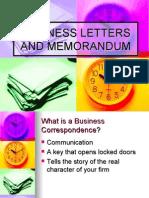 Lesson 7 Business Letters and Memorandum