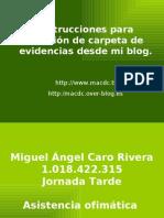 Instrucciones para revisión de carpeta de evidencias desde