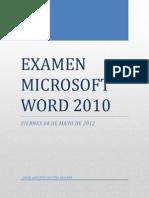 Examen Microsoft Word 2010