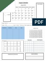 Calendar Page August