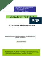 IMSS ESCUELA ENFERMERÍA MÉTODO ESTADÍSTICO