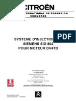45454718 Citroen Injection Hdi Siemens Sid 802 Moteur Dv4td