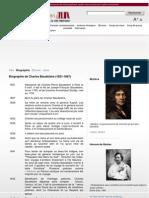 Charles Baudelaires - Quelques Dates