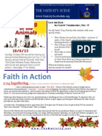 Nativity Scene Newsletter October 2013
