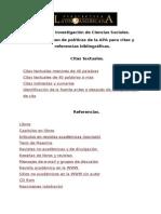 Normas de  APA para citas  bibliográficas