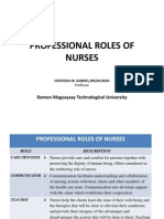 Professional Roles of Nurses