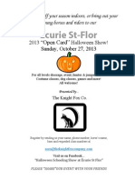Prizelist for Ecurie St Flor Oct 27 Halloween Show