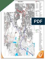 Trazo de la línea propuesta hacia el sur del Área Metropolitana de Guadalajara