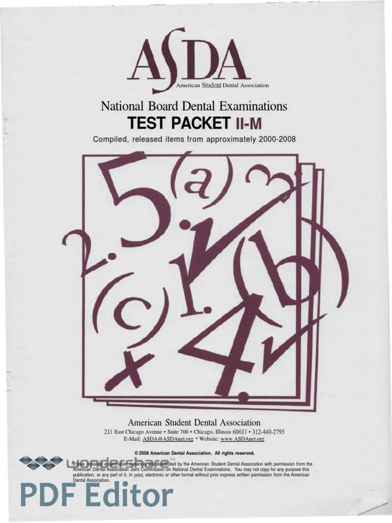 Nbde Ii_test Packet II-m (2000-2008)(1) | Dentures | Medical